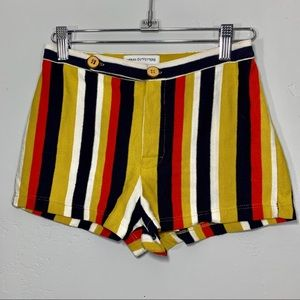 Urban Outfitters | Mustard Yellow Striped Shorts